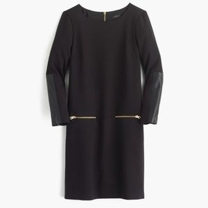 J. Crew Faux Leather Zip Dress